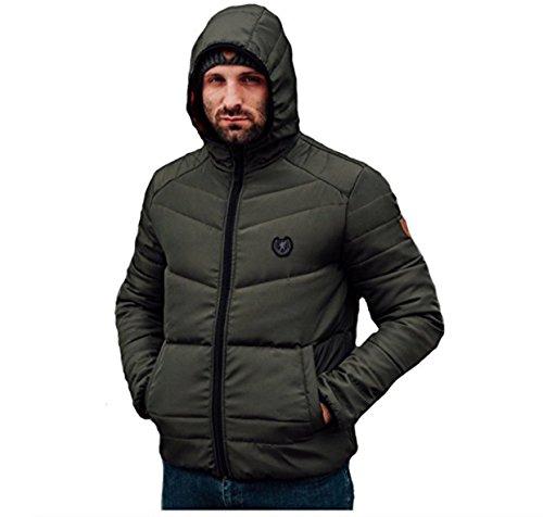 PG Wear Full Face Winterjacke Storm mit Maske schwarz und Olive S-3XL (3XL, Olive)