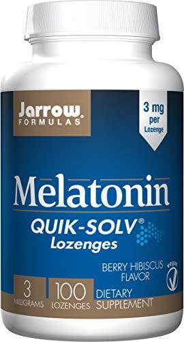 Jarrow Formulas Quik-Solv Melatonin, Supports Sleep Regulation, Vanilla Flavor, 300 mcg, 100 Lozenges