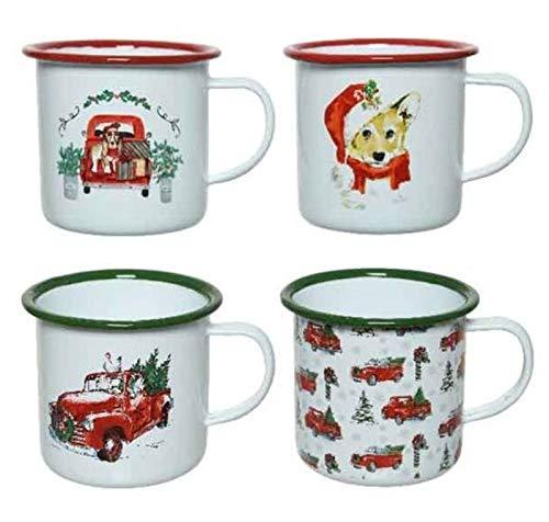 Kaemingk Tazza Mug in Ferro Fantasia Natalizia 4Ass Natale Decorazioni, Multicolore, 8719152970391