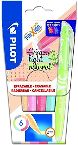 PILOT Textmarker Frixion 6er light natural Etui