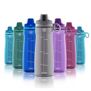 Pogo BPA-Free Plastic Water Bottle with Chug Lid, 32 oz.