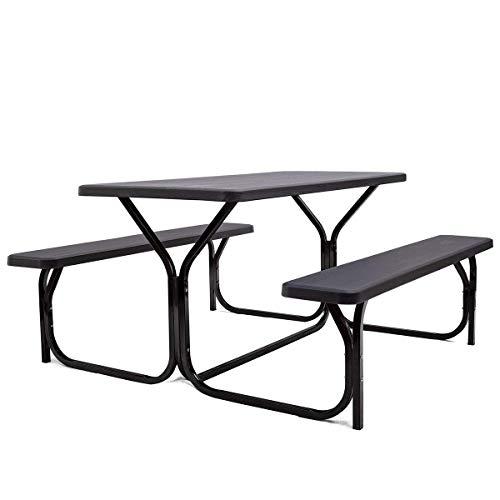 Gymax Picnic Table, Camping Picn...