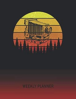 Weekly Planner: Stereoscope Camera | 2020 - 2021 | Plan Weeks for 1 Year | Retro Vintage Sunset Cover | January 20 - December 20 | Planning Organizer Writing Notebook | Productive Datebook Calendar Schedule | Plan Days, Set Goals & Get Stuff Done