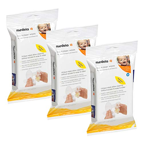Medela Quick Clean Breast Pump and Accessory Wipes, 72 Wipes...