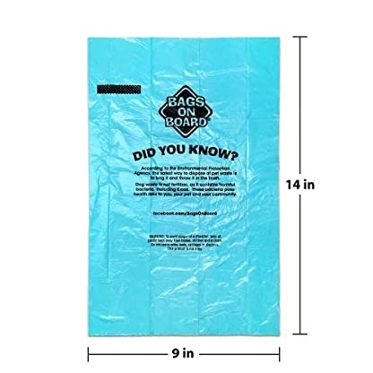 Bags on Board Strong, Leak Proof Dog Poop Pick-up Bags - Ocean Breeze scent (140 Bags) 2
