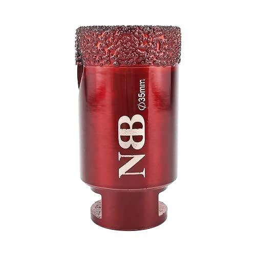 NBB Broca de diamante con M14, corona diamante para taladrar en seco y en húmedo profesionalmente en porcelana dura, cerámica, baldosas, granito, mármol, azulejo, para Amoladora Angular (1, 35mm)