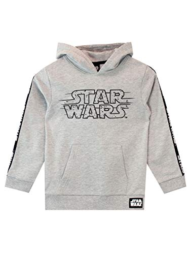 Star Wars Felpe con Cappuccio per Ragazzi Guerre Stellari Grigio 5-6 Anni