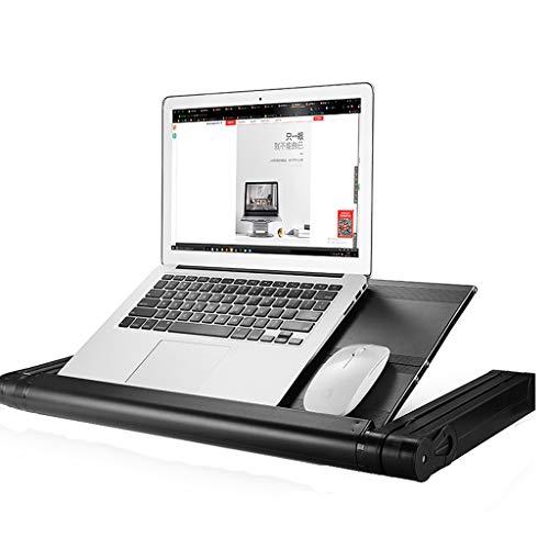 Opvouwbare Laptop Desk Stand, Riser Holder Notebook Portable Verstelbare Multi-Use Table Ergonomische Movable Cooling Board Bed Bank, Best Gift Black