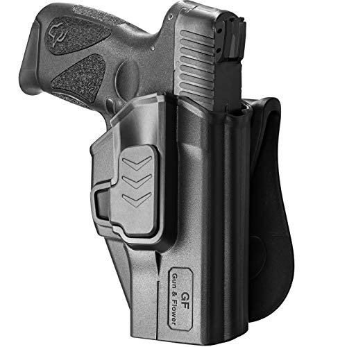 Taurus G2C Holsters, Polymer Paddle Holster Fit Taurus G2C/G3C, Taurus Millennium PT111/PT140 G2. Open Carry Holster for Outside Waistband, Index Finger Release System/Adjustable Cant. Right Hand