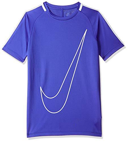 Nike/NK Dry acdmy SS GX Maglietta a Maniche Corte, Uomo, Uomo, Y Nk Dry Acdmy SS Gx, Blu/Bianco/Bianco (Paramount Blue/White/White), M
