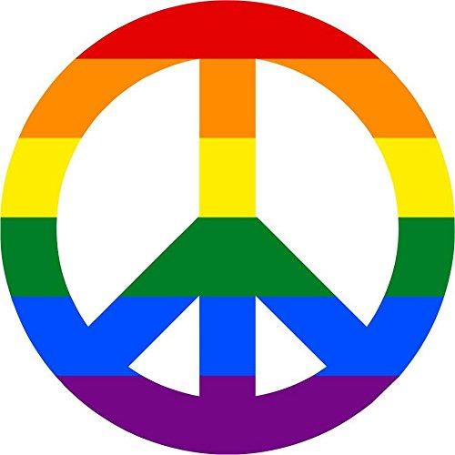 Akacha Aufkleber, Sticker, Auto, Motorrad, Deko, Peace, Love, Hippie, Regenbogen