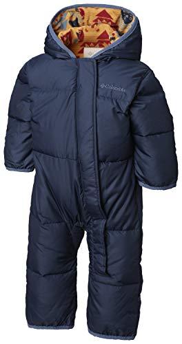 Columbia Sportswear Columbia Schneeanzug für Kinder, Snuggly Bunny Bunting, Polyester, - Blau, Gelb (Coll Navy, Canyon Gold Critter) - 3/6 months