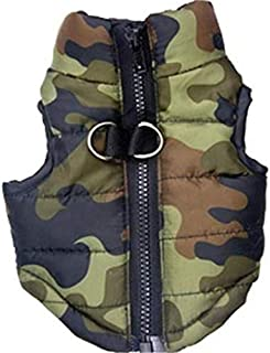 Glumes Dog Coat, Cozy Windproof Camouflage Dog Vest Winter Coat Warm Dog Apparel Cold Weather Dog Jacket Small Medium Dogs