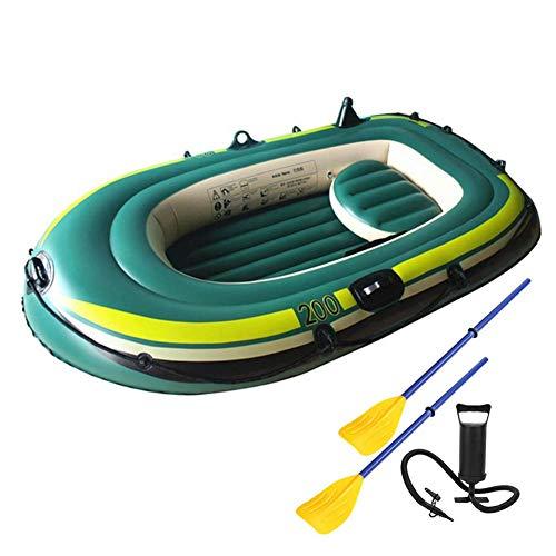Kayak Hinchable 2 plazas, Portátil Inflable En Bote Plegable De Goma Explorer Boat con 2 remos, Barco Hinchable para Pesca a la Deriva, Capacidad Máxima De Carga 200 Kg