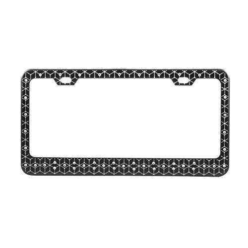 License Plate Frame (Special Edition Swarovski Enhanced-Black with Diamond Pattern and 48 Crystals) - Pilot Automotive SWR-0609E