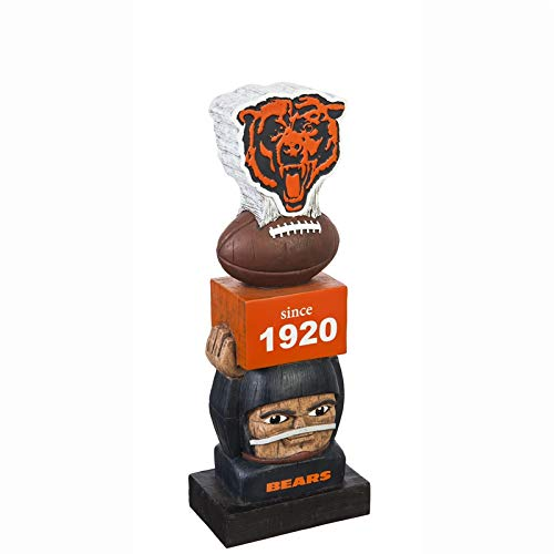 Team Sports America Chicago Bears Vintage NFL Tiki Totem Statue