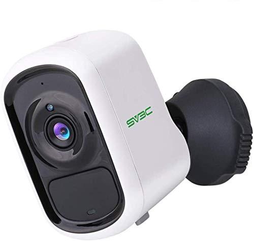 SV3C 1080P Telecamera di Videosorveglianza Batteria Wifi senza Fili, Rilevazione di Movimento PIR intelligente, Audio Bidirezionale, Nisione Notturna
