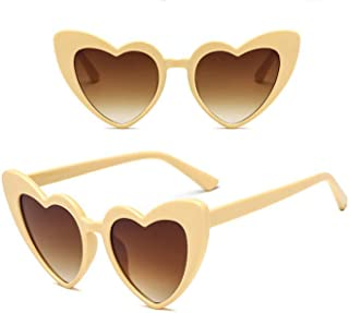 ba82d612a Unisex Vintage style Heart Sunglasses Super Cat Eye Triangle Retro Womens  Mens Cobain Jackie O Clout