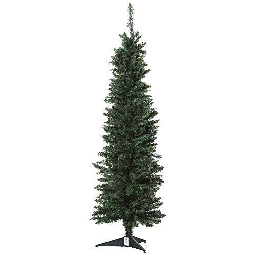 homcom 150cm Albero di Natale Pino Artificiale con Rami 294, Base Pieghevole Rimovibile Decorazioni Natalizie
