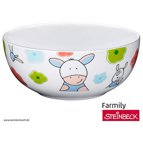 WMF Farmily Kindergeschirr Kinder-Müslischale, Ø 13,8 cm, Porzellan, spülmaschinengeeignet, farb- und lebensmittelecht