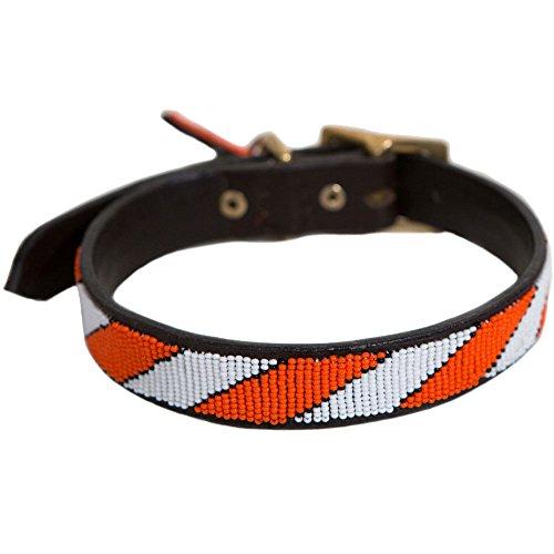 Wolfe + Hyde Collar para perro de diseño – 100{8d3cad0eba8986b897a243e6ee18a4fe6e5d24a2f08c1ba340a5bc73688adb2a} piel, hecho a mano y colorido para perros elegantes