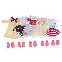 shama 5セットファッション6インチ女の子人形服靴人形パーティー服DIYAccs - スタイル2