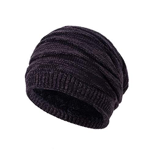 Xme Sombreros de Lana de Punto para Hombres en otoo e Invierno, Gorros Gruesos y clidos de Felpa de Invierno, Sombreros de Moda Casual para Hombres