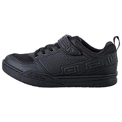 O'NEAL | Mountainbike-Schuhe | MTB Downhill Freeride | Vegan | SPD-Pedalplatten-kompatible Sohle, haltbares und leichtes PU, Belüftungsöffnungen | Flow SPD Shoe | Erwachsene | Schwarz | Größe 46