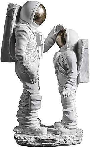JJDSN Decoración de Estatua de Astronauta Spaceman Encourage Figurita Escultura Niños Niños Sala de Estar Dormitorio Fiesta Espacio Adorno temático Regalo, Blanco