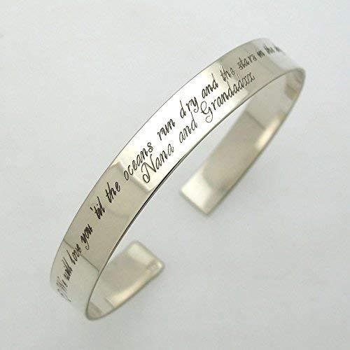Personalized Cuff Bracelet  Cuff Bracelet  Silver Cuff Bracelet