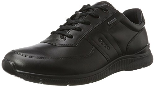 Ecco Irving, Zapatos de Cordones Derby Hombre, Negro (Black), 50 EU