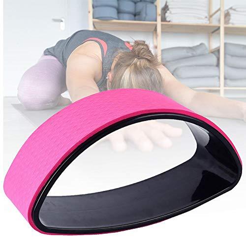 DC CLOUD Yoga Wheel Rueda De Yoga Rueda de Yoga para Estiramiento Yoga Estiramiento Rueda Antideslizante Rueda de Apoyo para Yoga Poses Pink,-