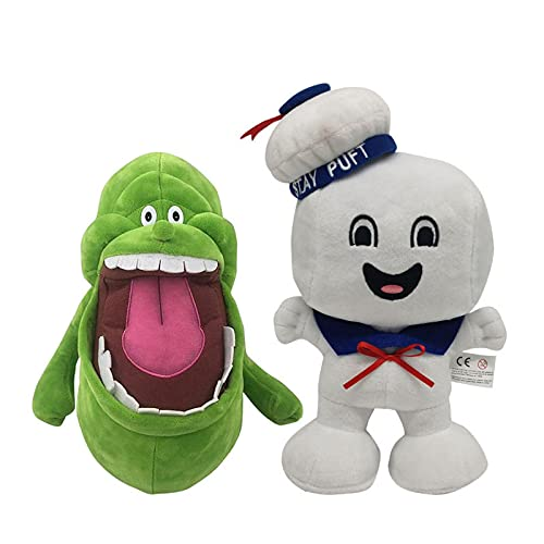 2Pcs Anime Green Ghostbusters Plush Toy 20Cm,Cute Soft Toys Ghost Stuffed Doll Toys For Children Birthday Christmas Easter