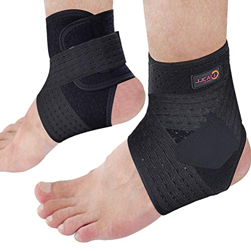 JJCALL left+right Ankle support brace, adjustable compression ankle support brace, used for sports...