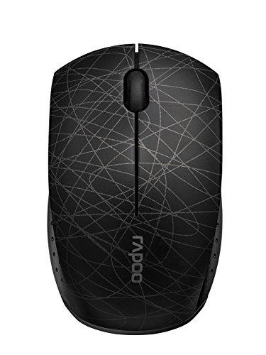 Rapoo 3300P Plus kabellose Maus, Funkmaus, 2.4 GHz Wireless ohne Kabel, kompakt, USB, 1000 DPI, kompakt, schwarz