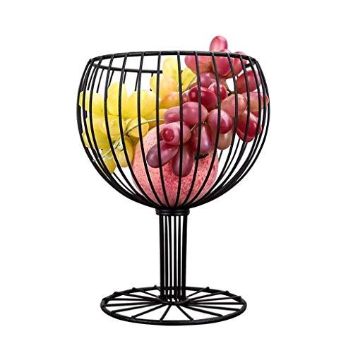 ZTMN Assiette de Fruits, Panier de Fruits Assiette de collation Bol de Fruits Fer Art Panier de Fruits Moderne Décoratif Assiette de Fruits secs Comptoir Multi-Fonction Gâteau Stand Noir