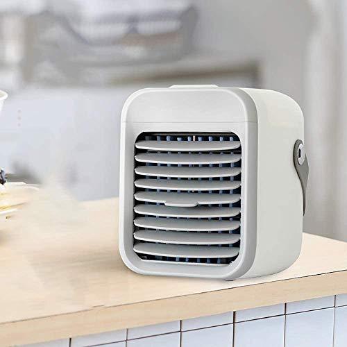 Mini ventilador portátil de aire acondicionado mini mini refrigerador de aire acondicionado pequeño pequeño hogar estudiante dormitorio cama portátil mesa gris