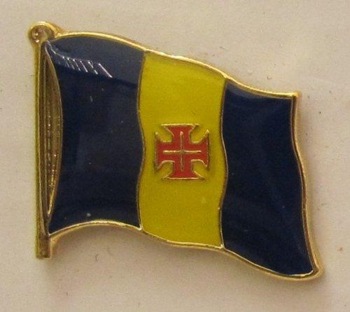 Pin Anstecker Flagge Fahne Madeira Spanien Flaggenpin Badge Button Flaggen Clip Anstecknadel