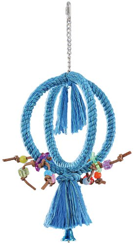 Nobby Cage Toy, Kletterring gekreuzt blau klein; Ø 21 cm
