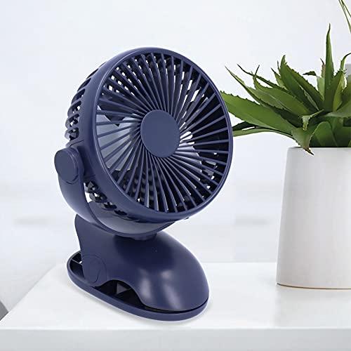 Cuifati Mini Ventilador de Clip de Escritorio USB, Giratorio de 360 Grados, 4 velocidades de Viento Ajustables, Adecuado para Uso en Verano(Blue, Pisa Leaning Tower Type)