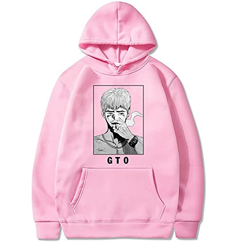 Great Teacher GTO Hoodie Sudadera con Capucha Hombres Japón Anime Eikichi Onizuka Pullover Harajuku Dibujos Animados Hip Hop High Street Moda Casual