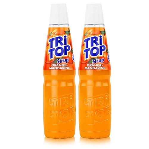 Tri Top Getränke-Sirup Orange-Mandarine 600ml - kalorienarm (2er Pack)