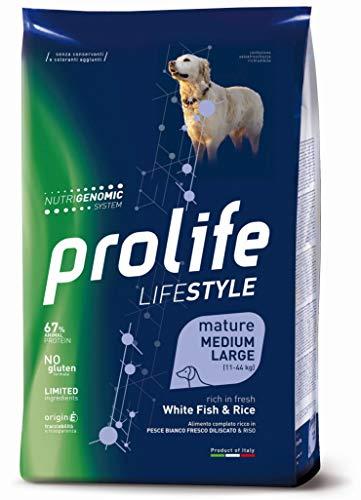 Prolife - Lifestyle Mature Medium/Large al Pesce e Riso da 12 Kg