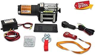 Cabrestante Electrico 12v Winch 1360Kg Cabestrante Con Mando de Distancia y Placa de Montaje