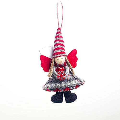 Engel meisje pop ornamenten hanger kerstboom decoratie hangend voor Kerstmis party bruiloft raamdecoratie set geschenk