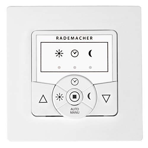 Rademacher 5602-UW Troll Basis Zeitschaltuhr, Steuerung Rohrmotor, Markise, Jalousie mit Memory-Funktion, automatisch & manuell, für Rollläden, Markisensteuerung Ultraweiß/Weiß