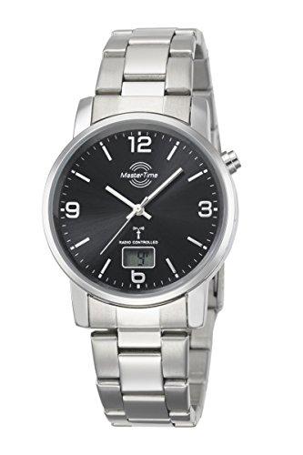 Master Time Funk Quarz Herren Uhr Analog-Digital mit Edelstahl Armband MTGA-10302-21M