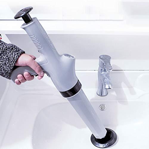 zyh Toilet émbolo,Desatascador de Inodoro,La draga para inodoros de Alta presión es de una Sola Pieza,Disponible en Blanco y Gris,Adecuada para dragar inodoros,alcantarillas y Varias tuberías