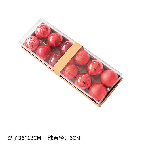 QZXCD Bola de Navidad Bola de Navidad Dorada Bola Colgante 6CM8cm Bola de Navidad roja Decoración del árbol de Navidad Bola de Colores Arreglo de Navidad Prop E