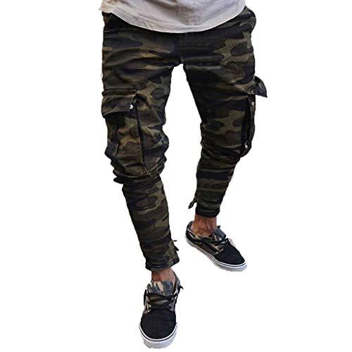 Homme Pantalons Cargo Casual Jeans Sport Jogging Slim Large Travail Strech Fit Militaire Cargo Montagne Baggy Pants Multi Poches Grande Taille Couleur Unie